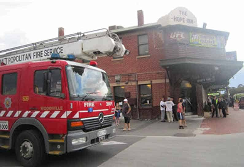 Even the kitchen in the local pub back in Adelaide caught fire - Henny Jensen