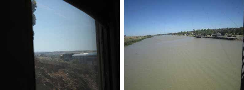 Crossing the mighty River Murray by train - YML v/Henny Jensen