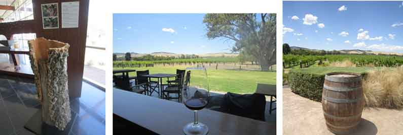 Henny Jensen on a guided tour with wine tasting in Jacobs Creek, Barossa Valley, Adelaide Hills