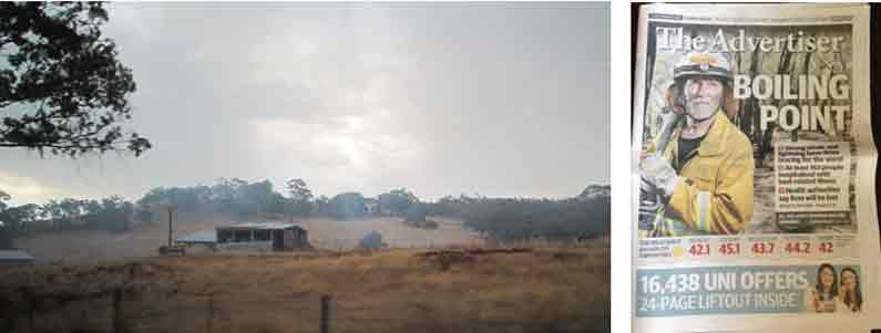 Bushfires in Barossa Valley, Adelaide Hills, during heatwave in January 2014 - YML v/Henny Jensen