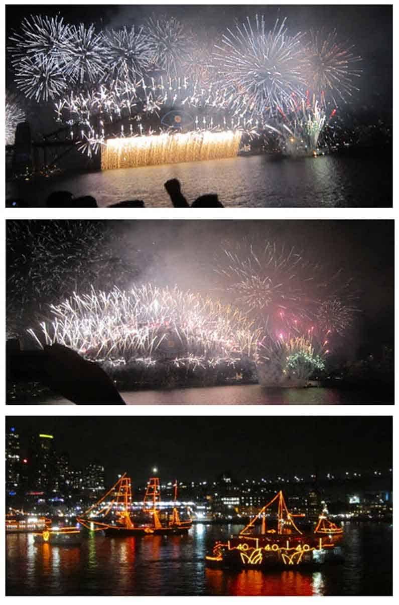 Henny Jensen enjoys the spectacular and magnificent fireworks on Sydney Harbour