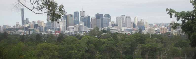 View of Brisbane CBD from Royal Botanic Garden on Mount Coot-Tha - Henny Jensen