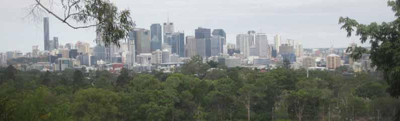 View of Brisbane CBD from Royal Botanic Garden on Mount Coot-Tha - Henny Jensen