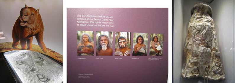 The Aboriginal story of the creation is called The Dreaming or Dreamtime. The First Peoples exhibition at Melbourne Museum gives you an amazing insight into Aboriginal life and culture - Henny Jensen