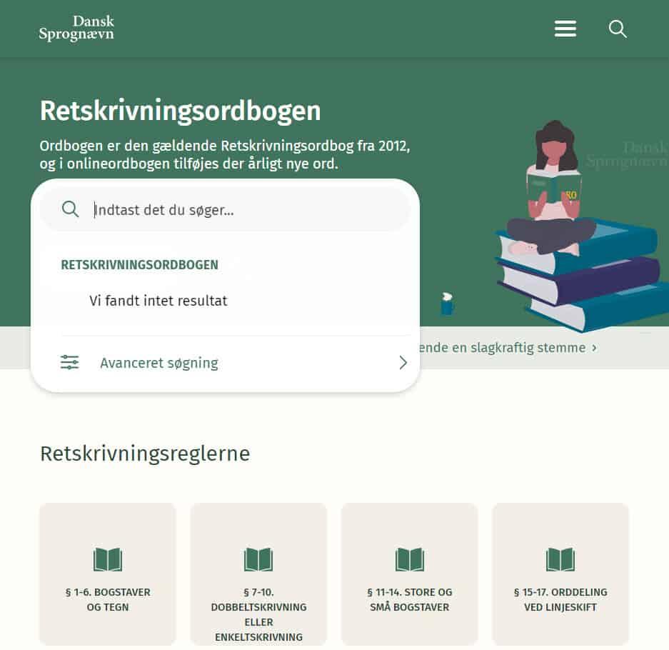Dansk Sprognævn driver Retskrivningsordbogen